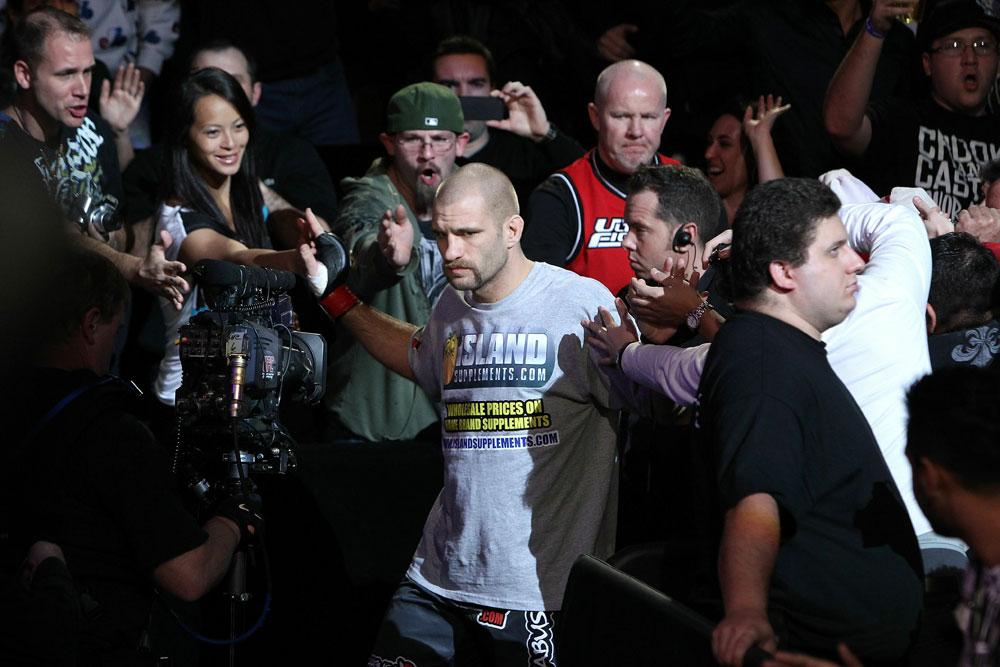 UFC 124: Joe Doerksen enters the ring