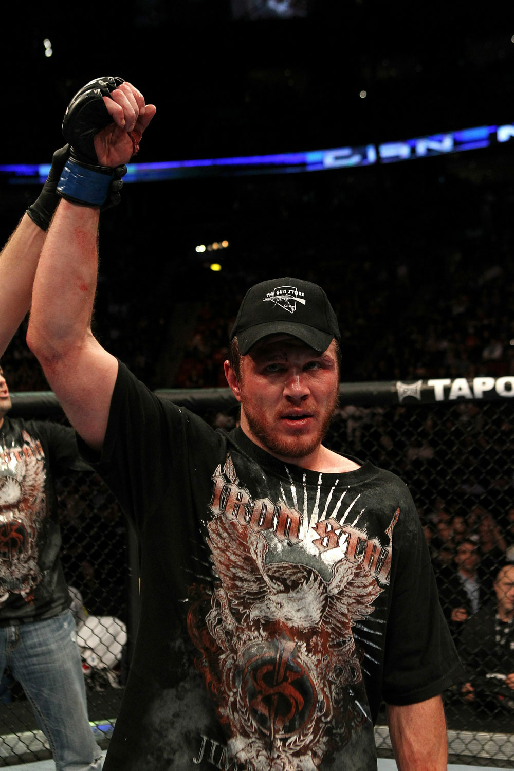 UFC 124: Dan Miller celebrates his win.
