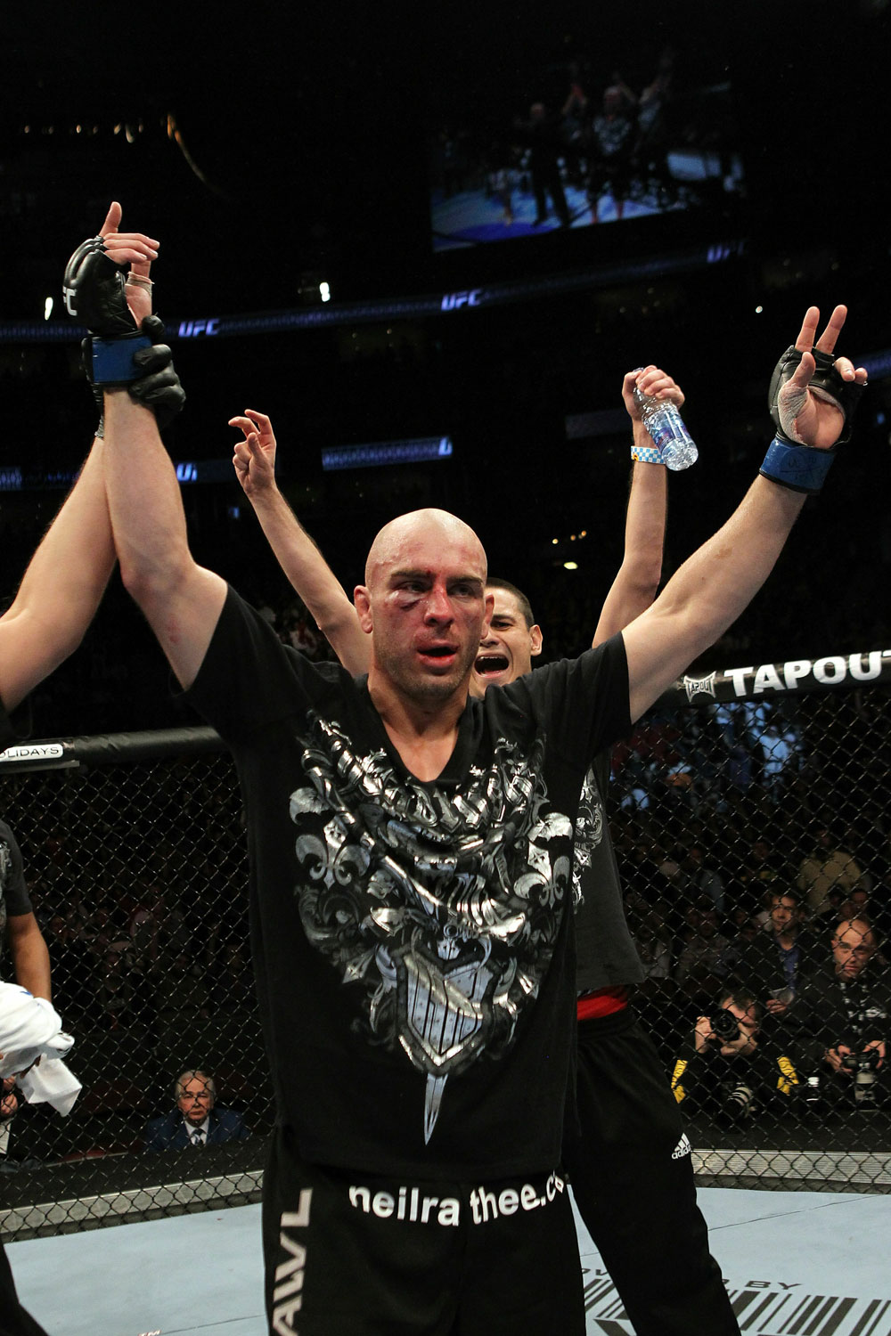 UFC 124: Sean Pierson celebrates his win.
