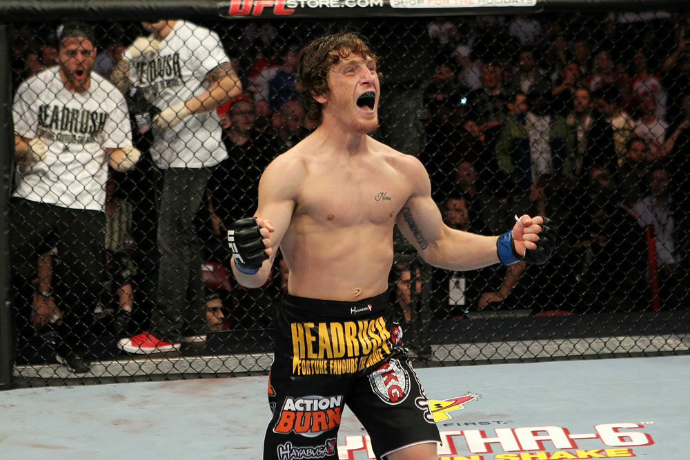 UFC 124: Danzig celebrates his win.