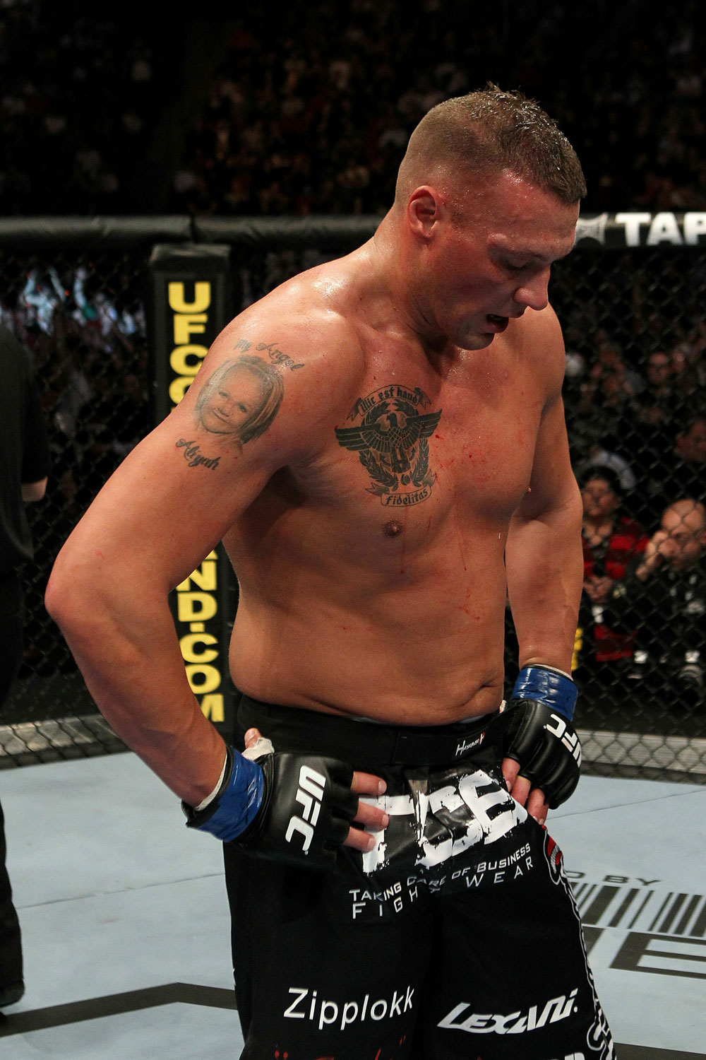 UFC 124: McCorkle after his loss to Struve.