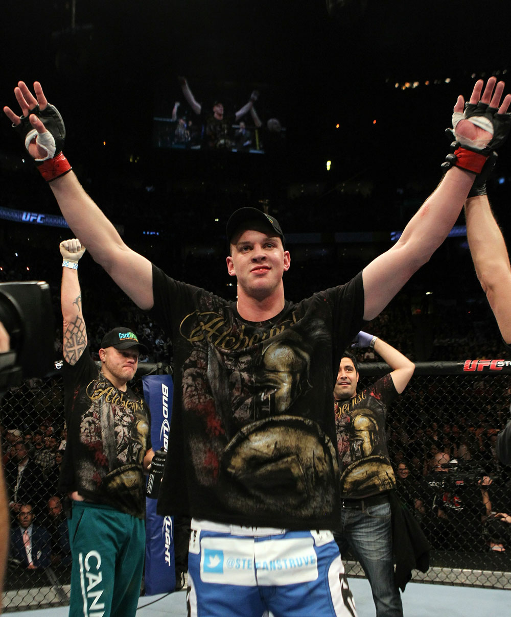 UFC 124: Stefan Struve after his win.