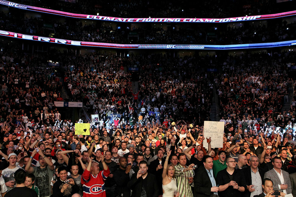 UFC 124: The crowd in Montreal