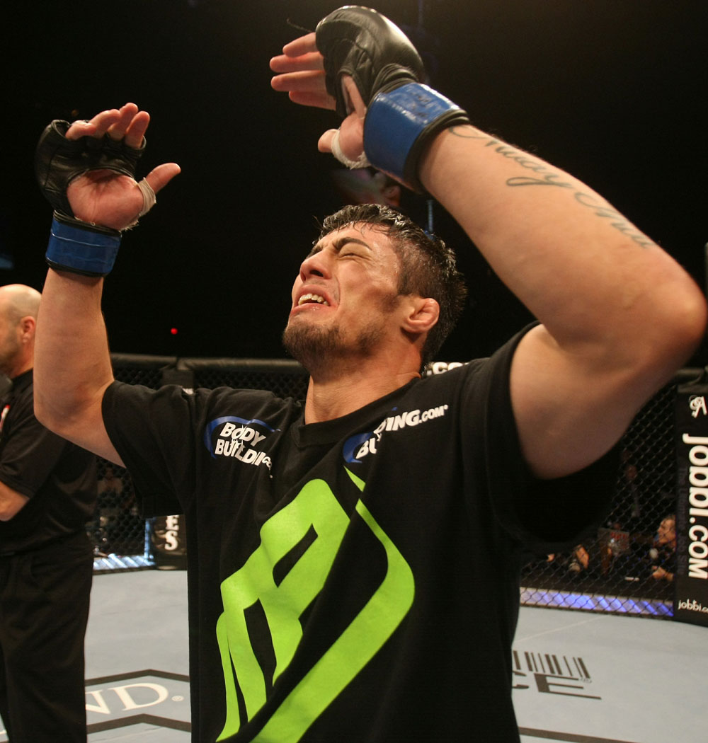 UFC 125: Diego Nunes celebrates his win.
