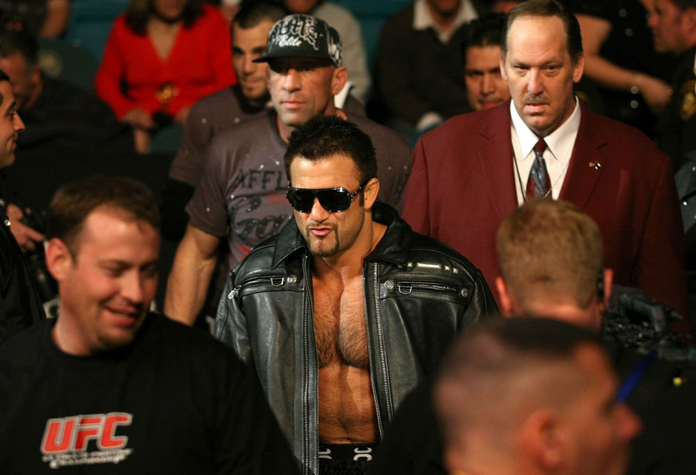 UFC 125: Phil Baroni enters the ring.