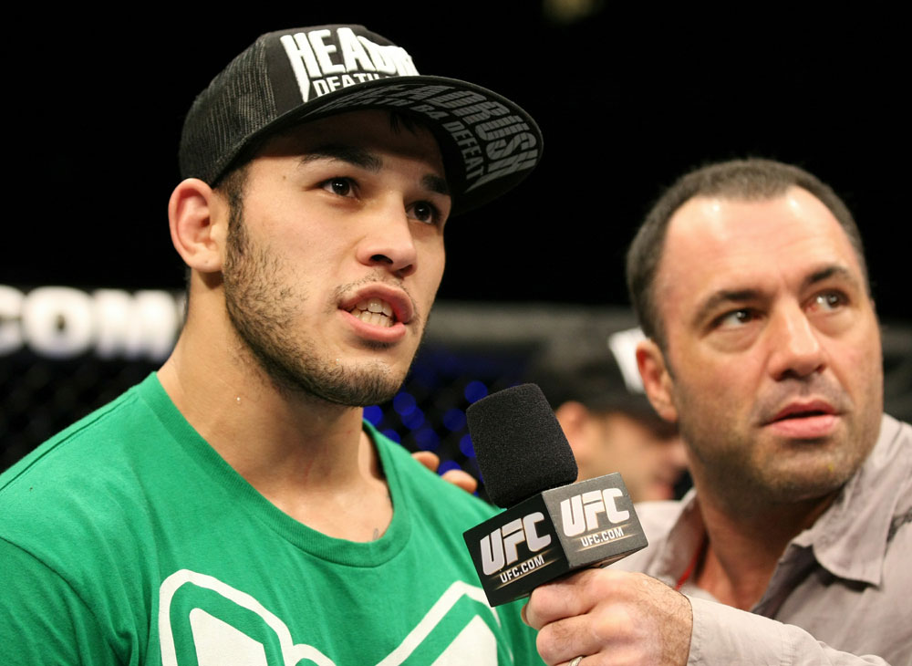 UFC 125: Brad Tavares celebrates his win.