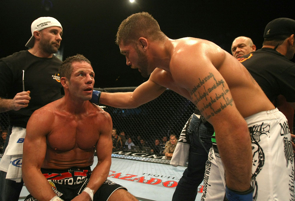 UFC 126: Davis after being knocked out by Stephens.