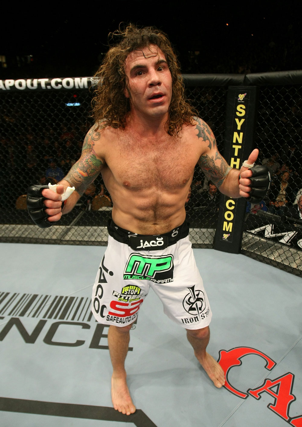 UFC 125: Clay Guida celebrates his win.