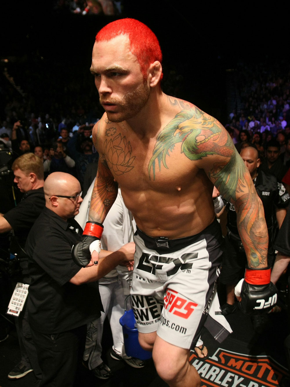 UFC 125: Chris Leben enters the ring.