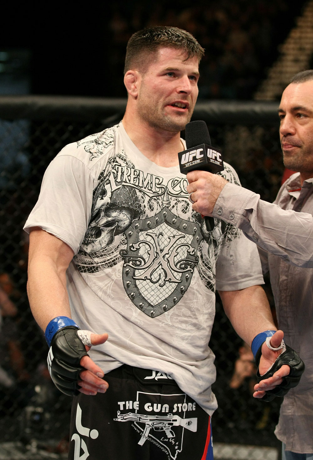 UFC 125: Brian Stann after his victory over Chris Leban.
