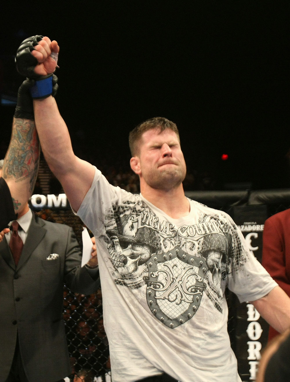 UFC 125: Brian Stann celebrates his win over Chris Leben