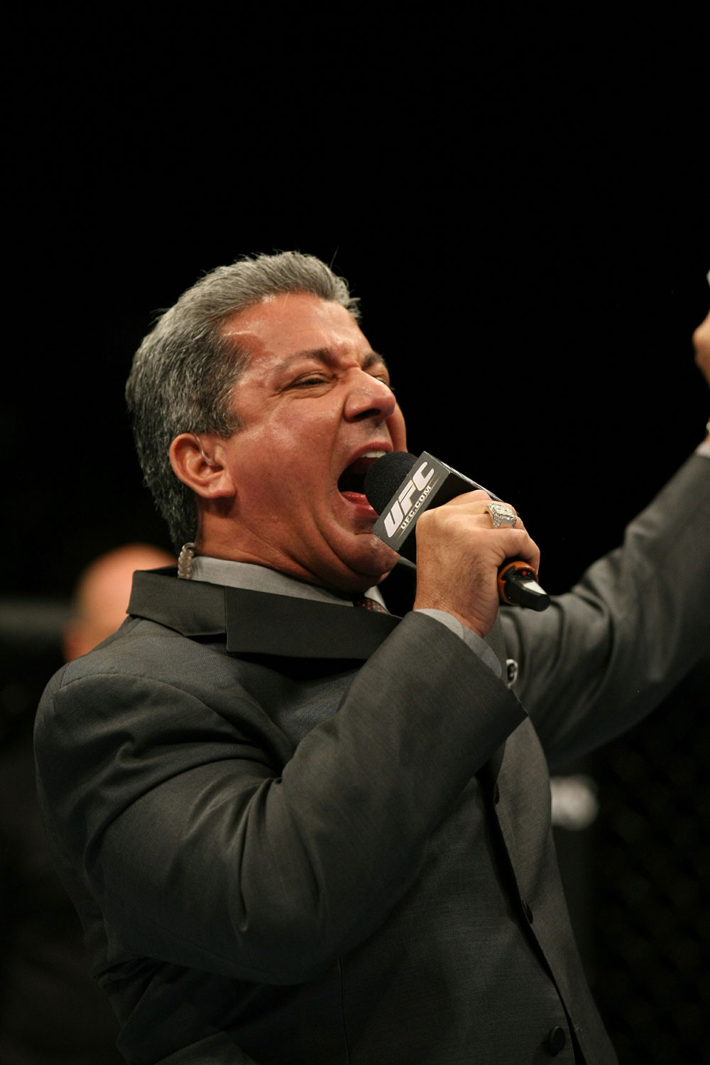 UFC 125: Bruce Buffer announces the Main Event.