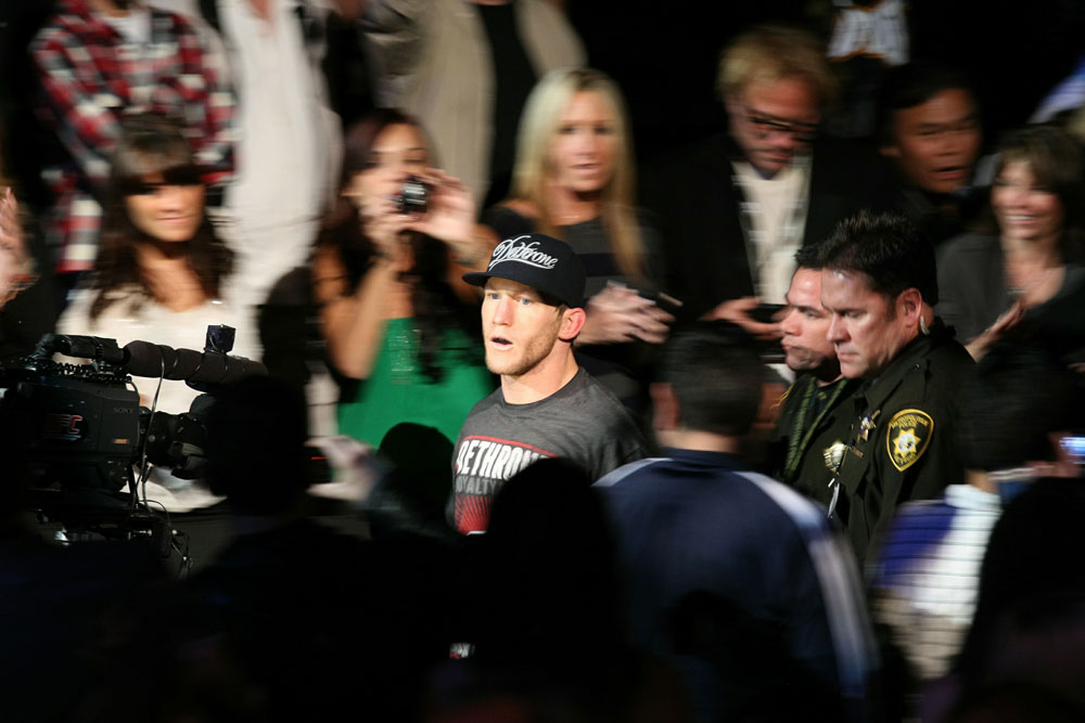 UFC 125: Gray Maynard enters the ring.
