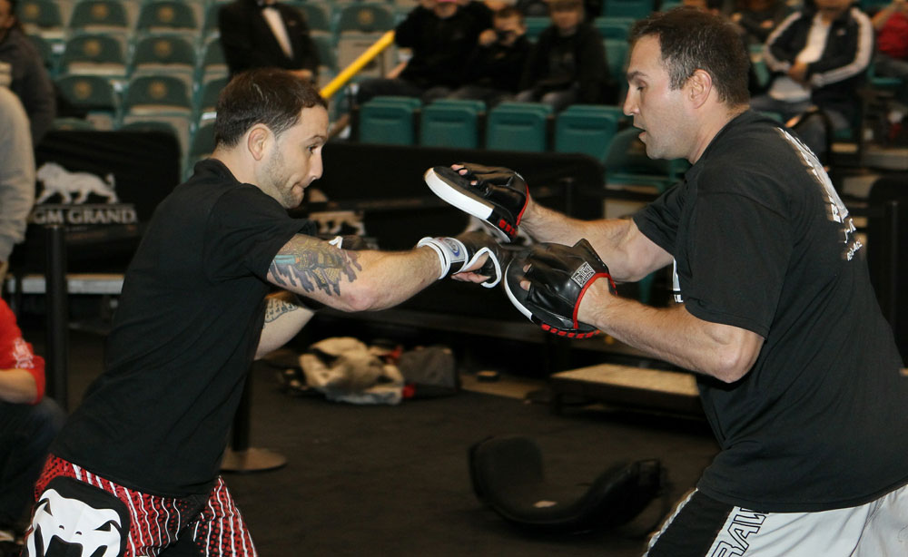 Frankie Edgar at the UFC 125 Open Workouts.