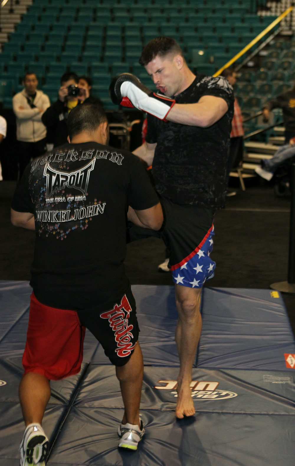 Brian Stann at the UFC 125 Open Workouts.