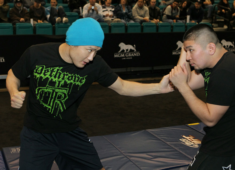 Takanori Gomi at the UFC 125 Open Workouts.