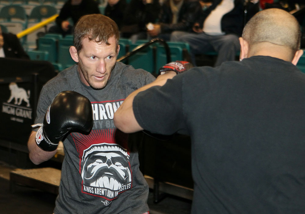 Gray Maynard at the UFC 125 Open Workouts.