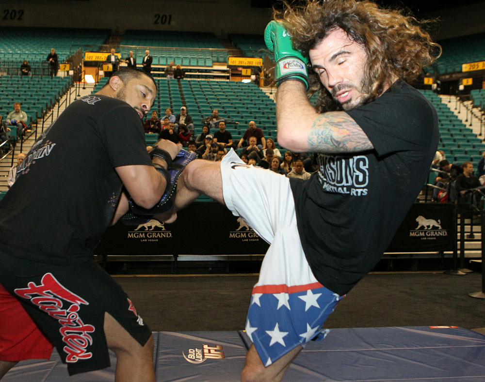 Clay Guida at the UFC 125 Open Workouts.