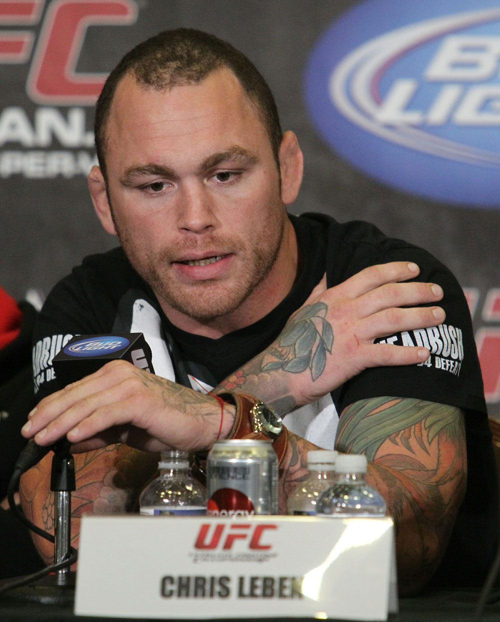 Chris Leben at the UFC 125 Pre-Fight Press Conference.