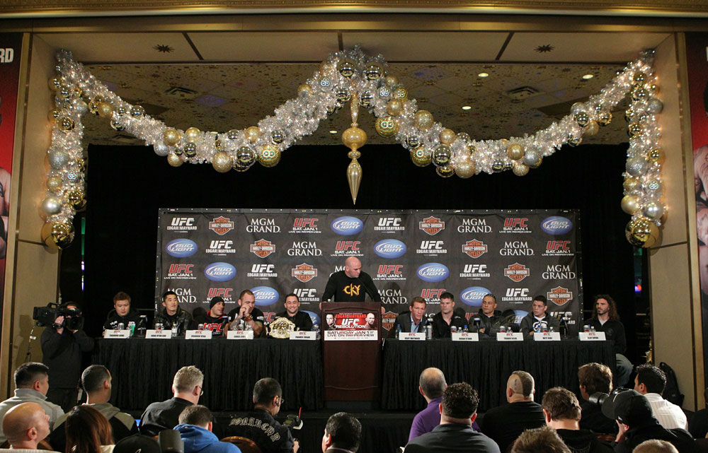 Dana White speaks at the UFC 125 Pre-Fight Press Conference.