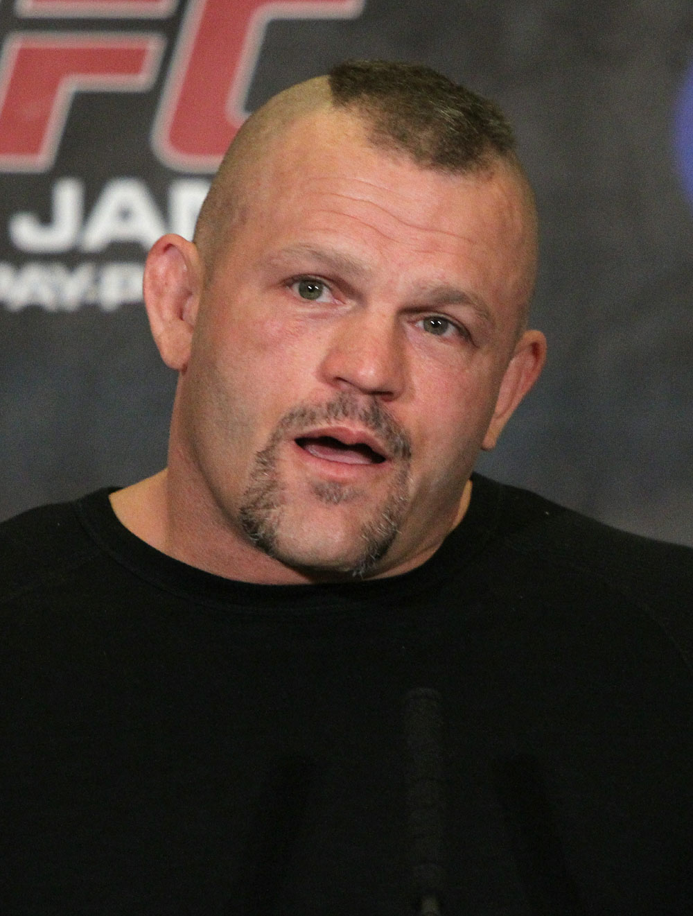 Special Guest, Cuck Liddell at the UFC 125 Pre-Fight Press Conference.