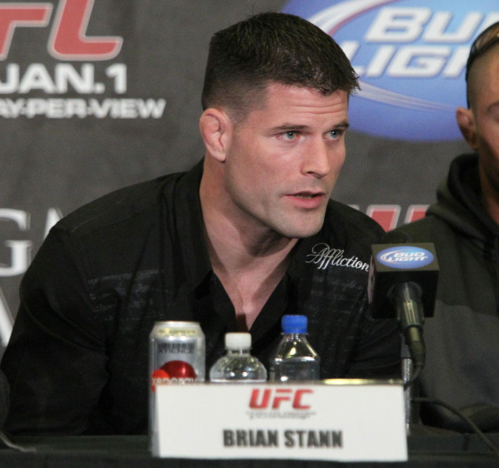 Brian Stann at the UFC 125 Pre-Fight Press Conference.