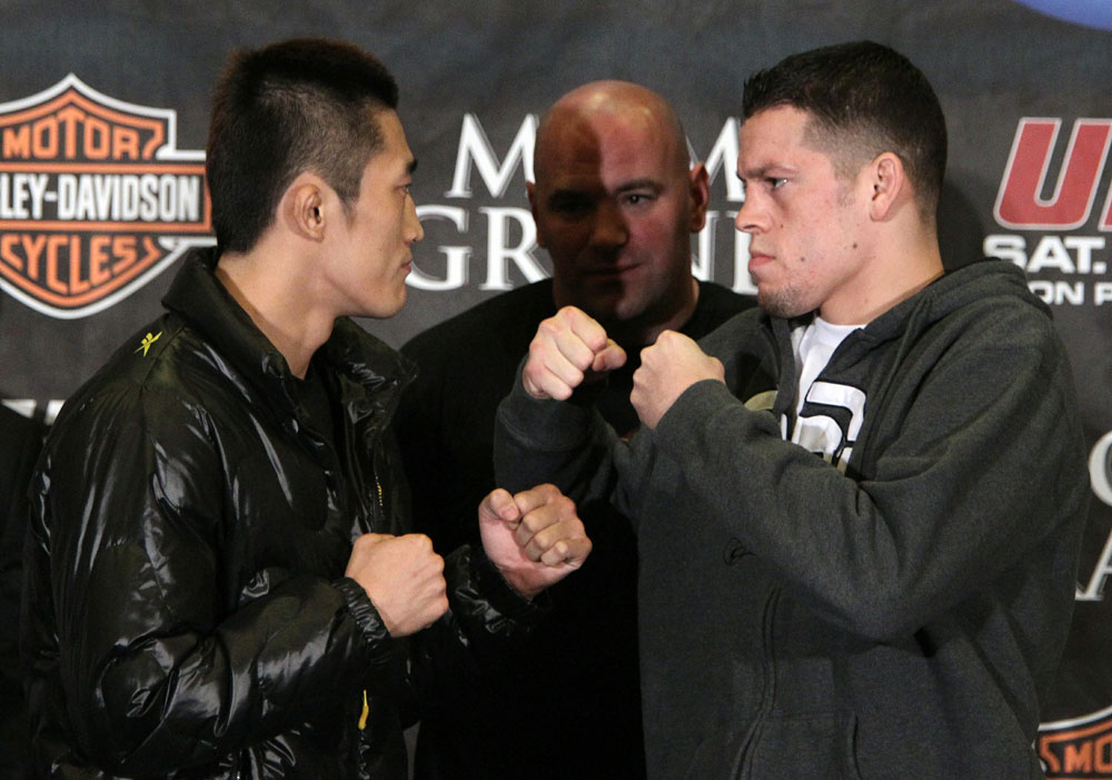 Kim vs. Diaz at the UFC 125 Pre-Fight Press Conference.