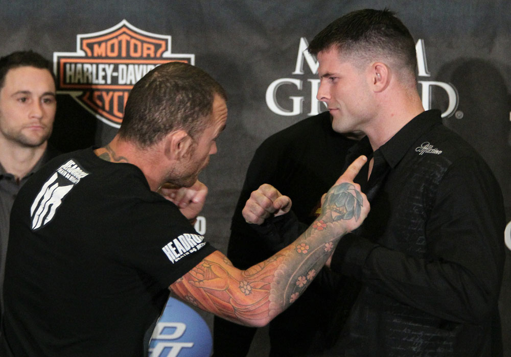 Leben vs. Stann at the UFC 125 Pre-Fight Press Conference.
