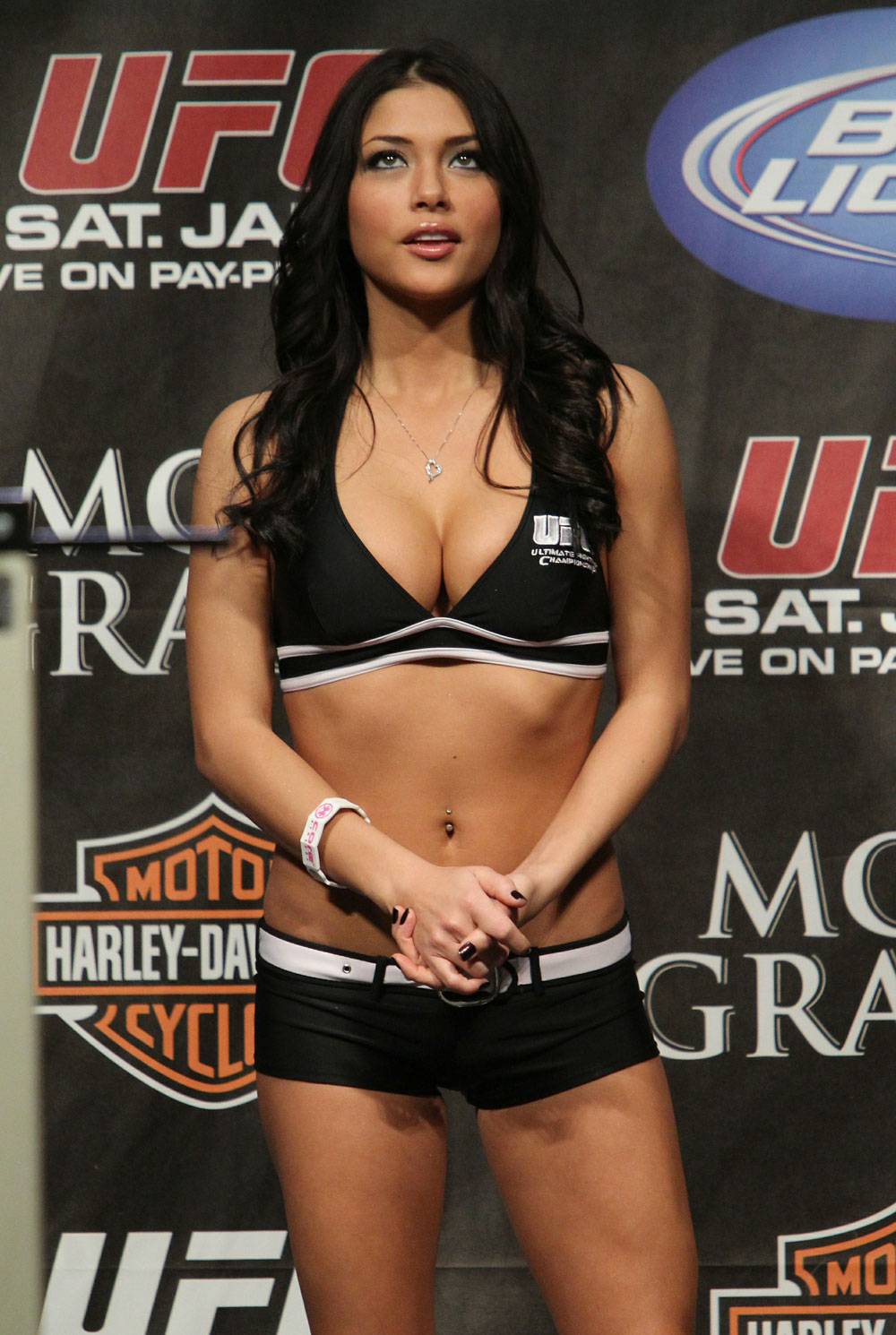Arianny Celeste at the UFC 125 Weigh-in.