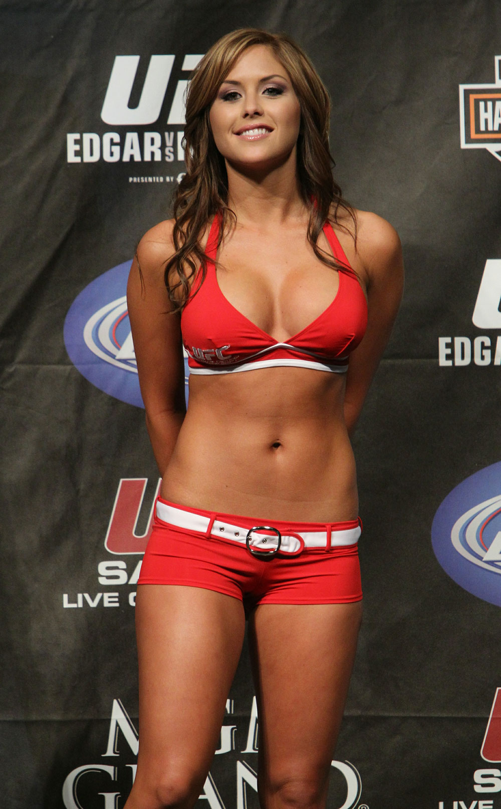 Brittney Palmer at the UFC 125 Weigh-in.