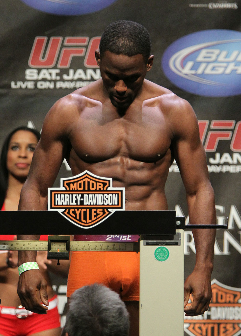 Antonio McKee at the UFC 125 Weigh-in.