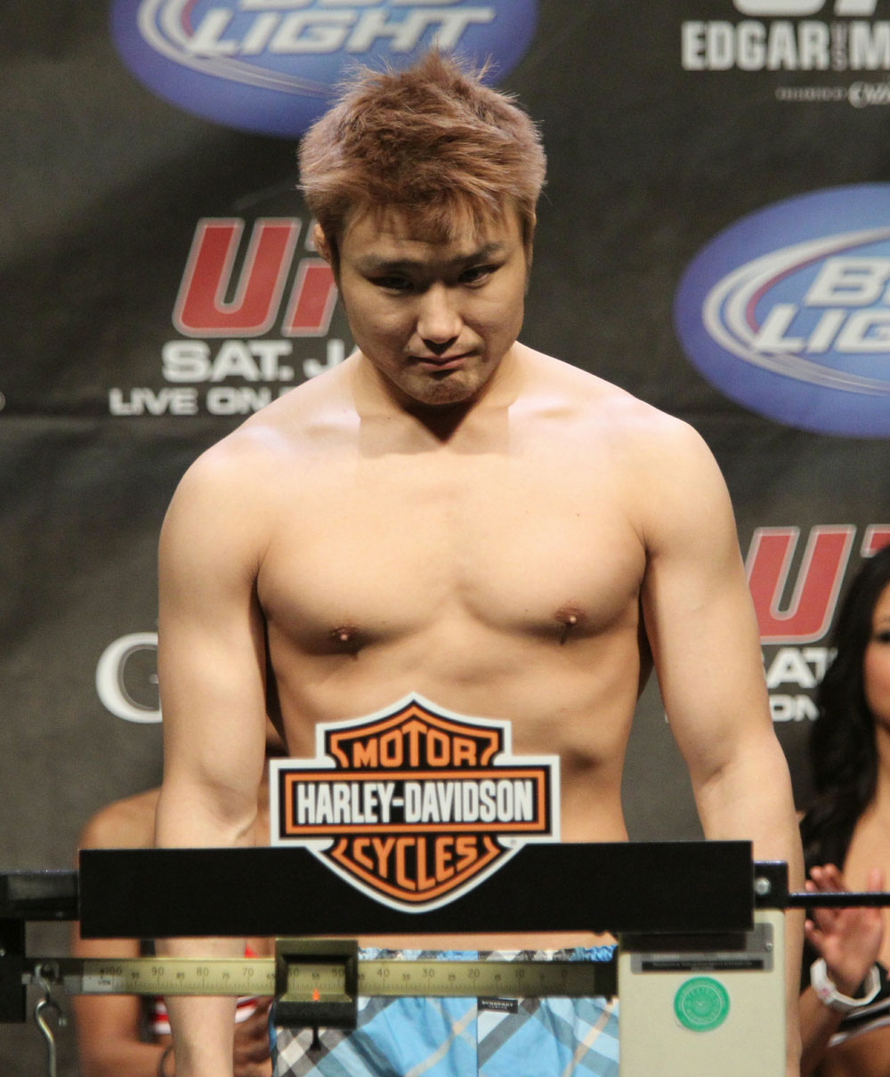 Takanori Gomi at the UFC 125 Weigh-in.