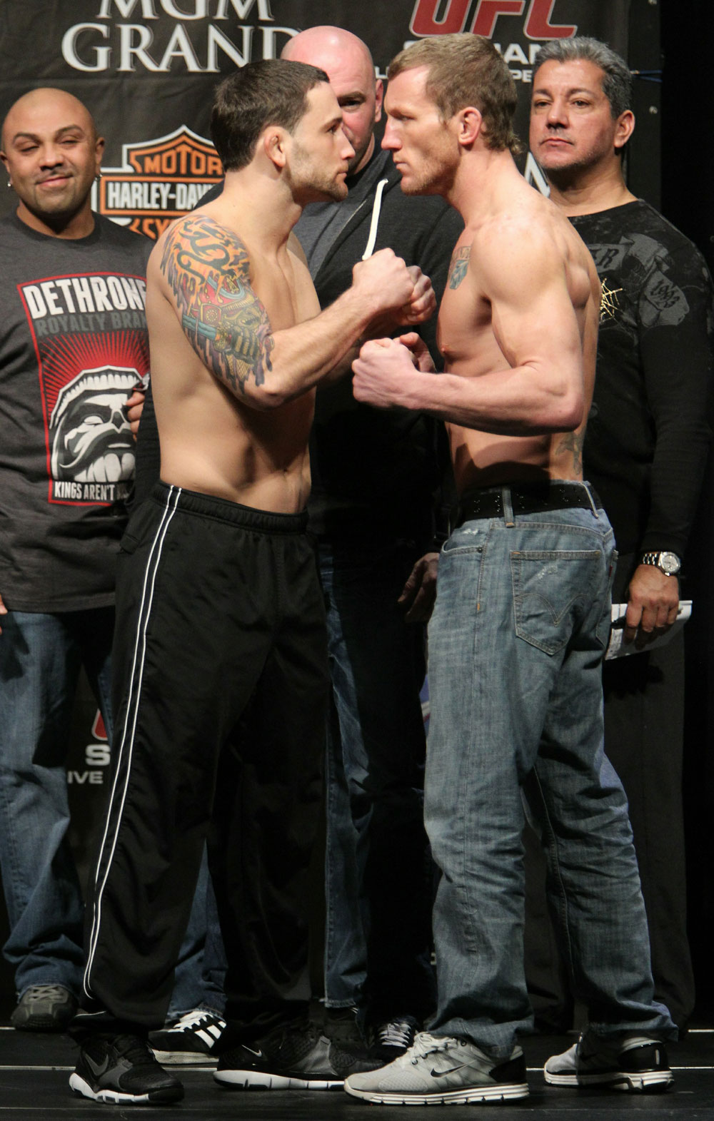 Edgar vs. Maynard at the UFC 125 Weigh-in.