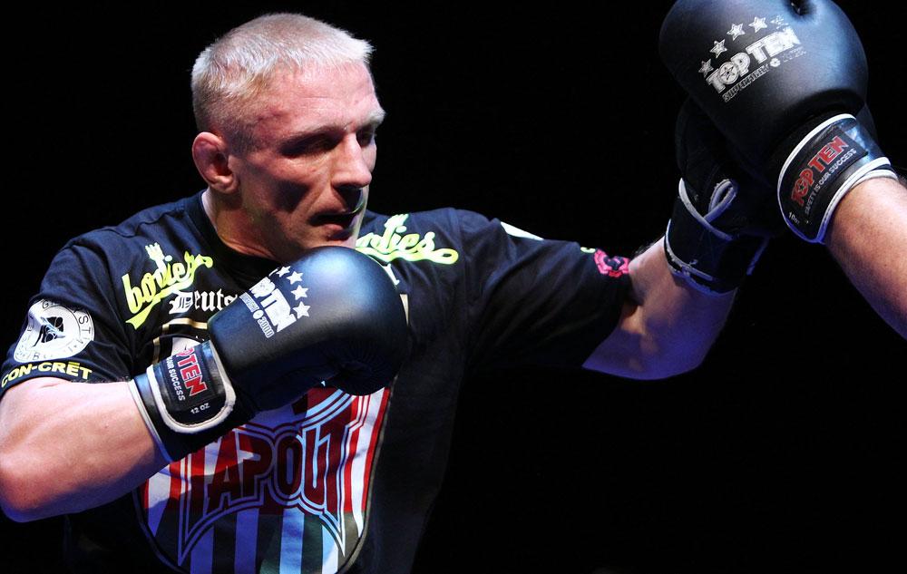 Dennis Siver does some glove work during an Open Workout