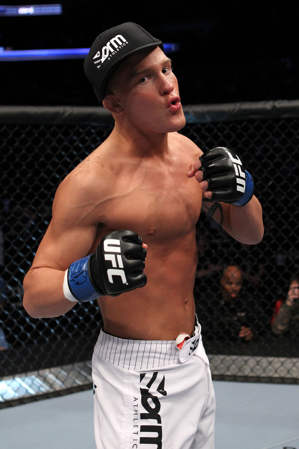 UFC 128: Erik Koch celebrates his win