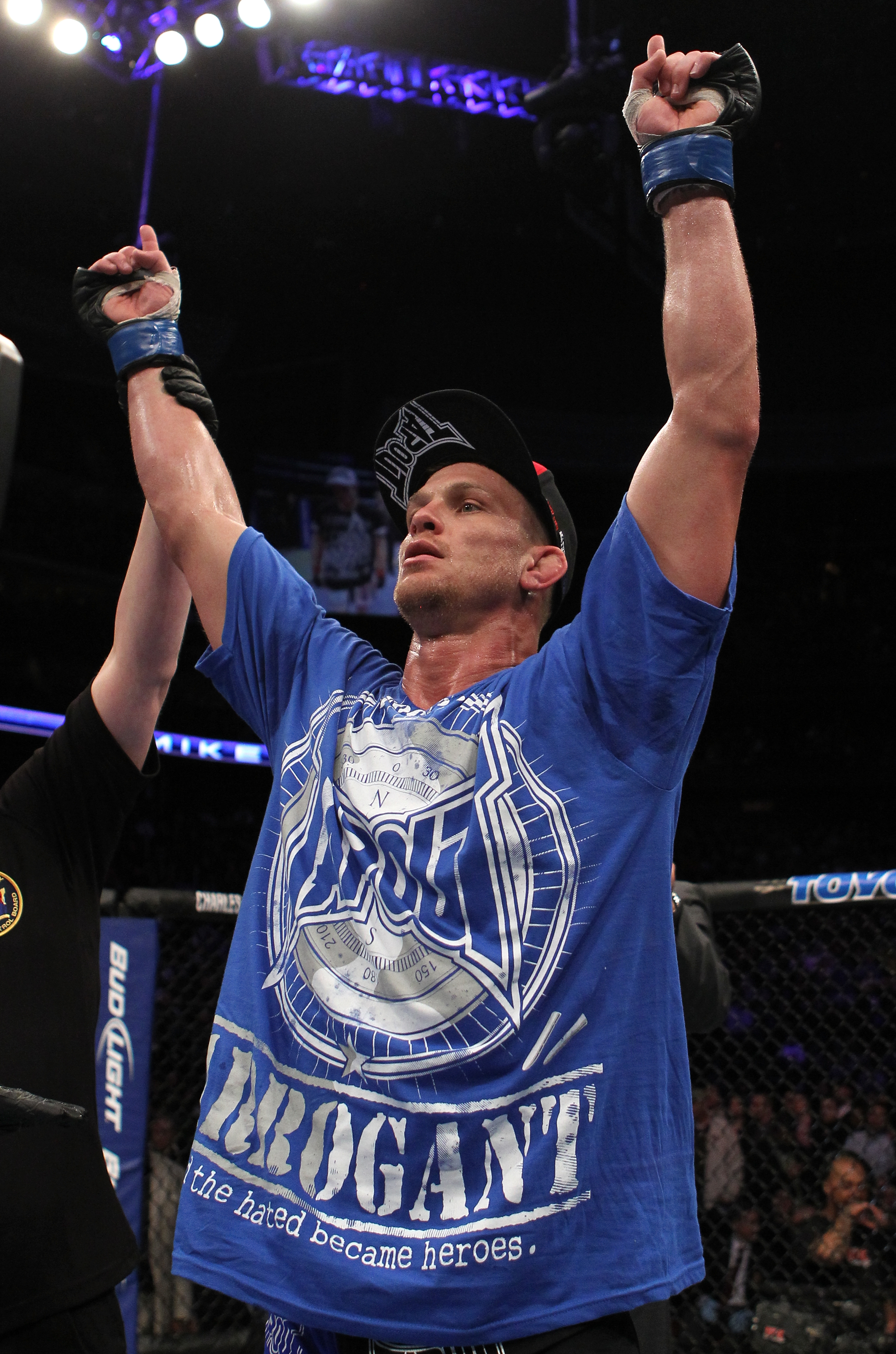 UFC 128: Mike Pyle celebrates his win