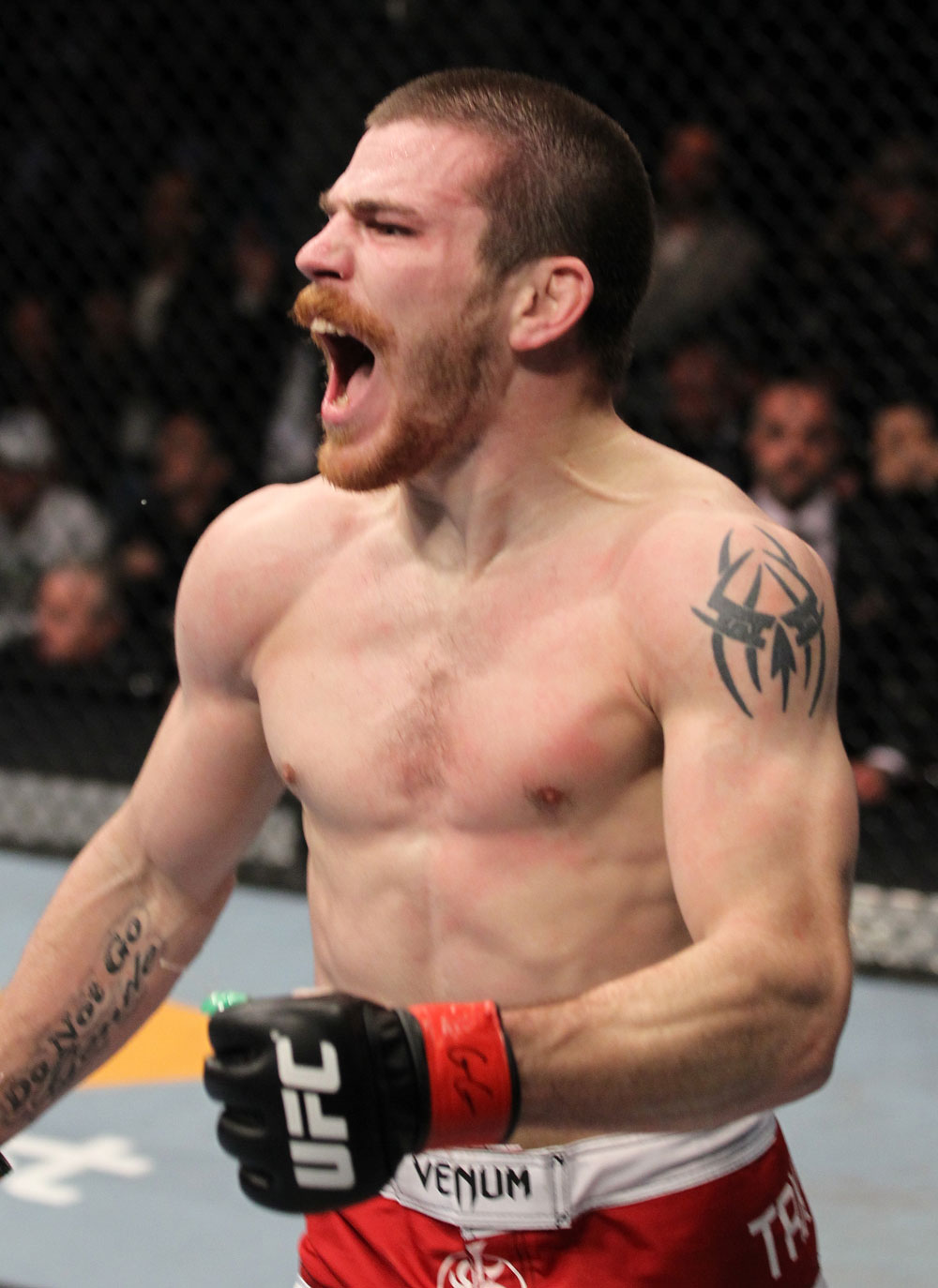 UFC 128: Jim Miller celebrates his win