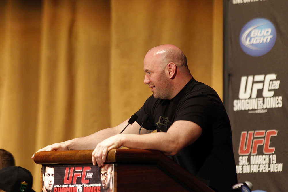 UFC 128: Pre-Fight Press Conference: UFC President Dana White