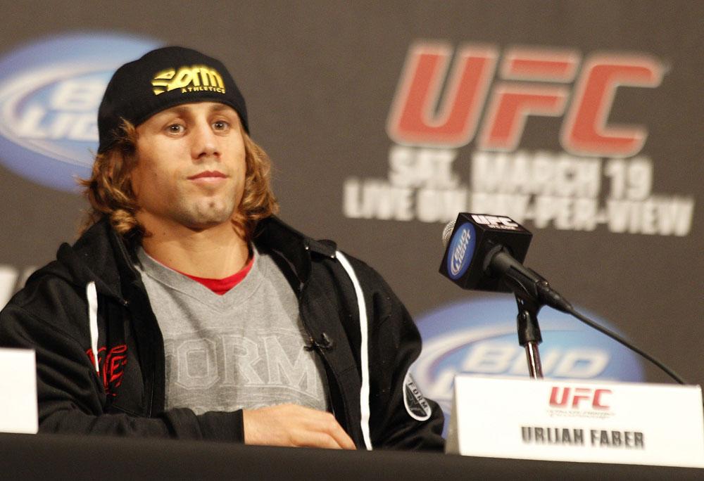 UFC 128: Pre-Fight Press Conference: Urijah Faber