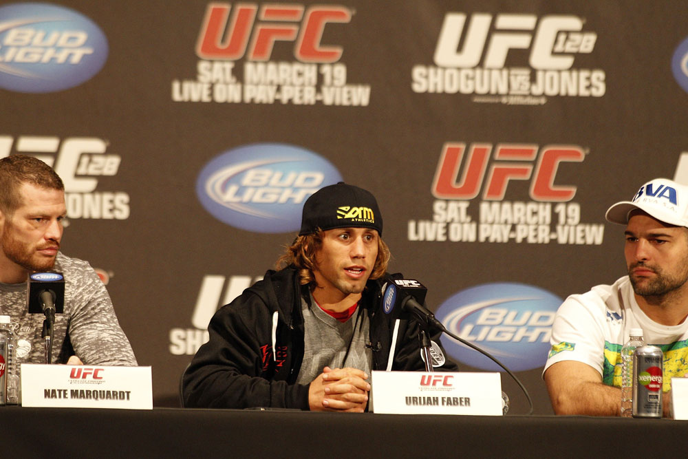 UFC 128: Pre-Fight Press Conference: Nate Marquardt, Urijah Faber and Shogun
