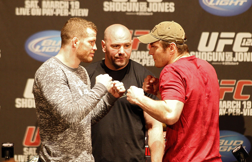 UFC 128: Pre-Fight Press Conference: (L-R) Nate Marquardt vs. Dan Miller