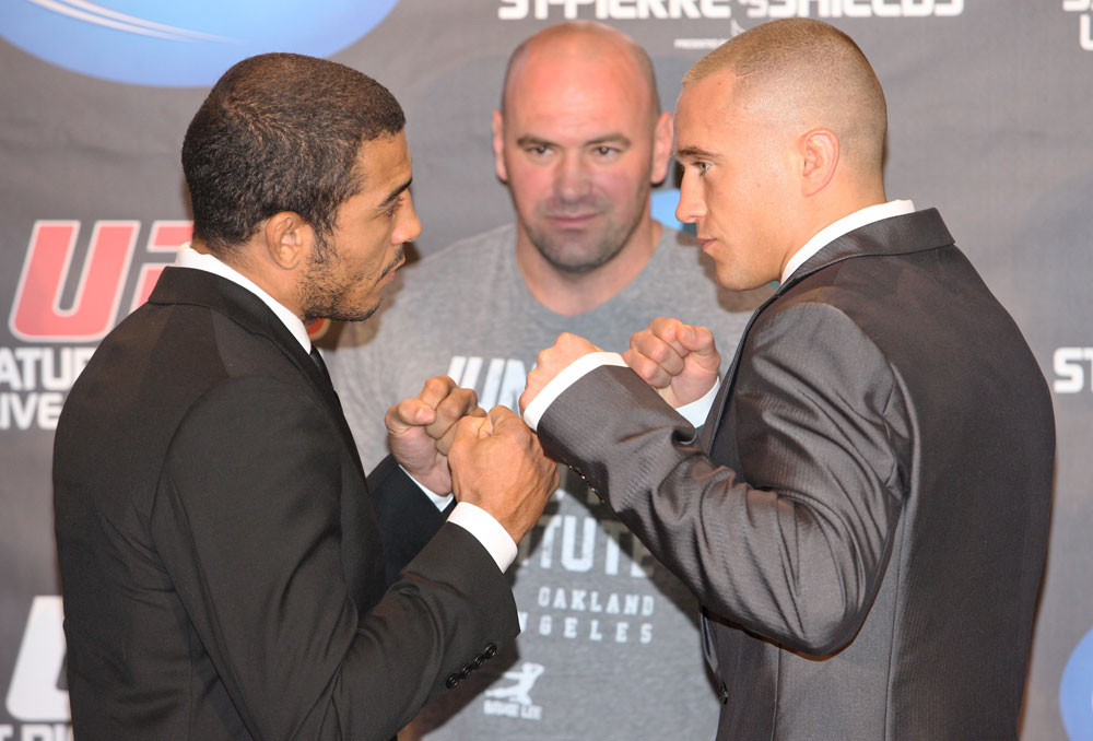 Jose Aldo, Mark Hominick & Dana White