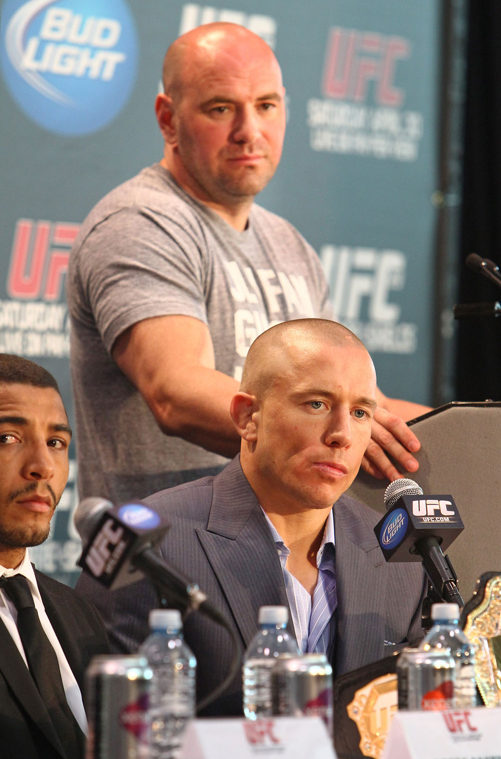 Dana White, Georges St-Pierre & Jose Aldo
