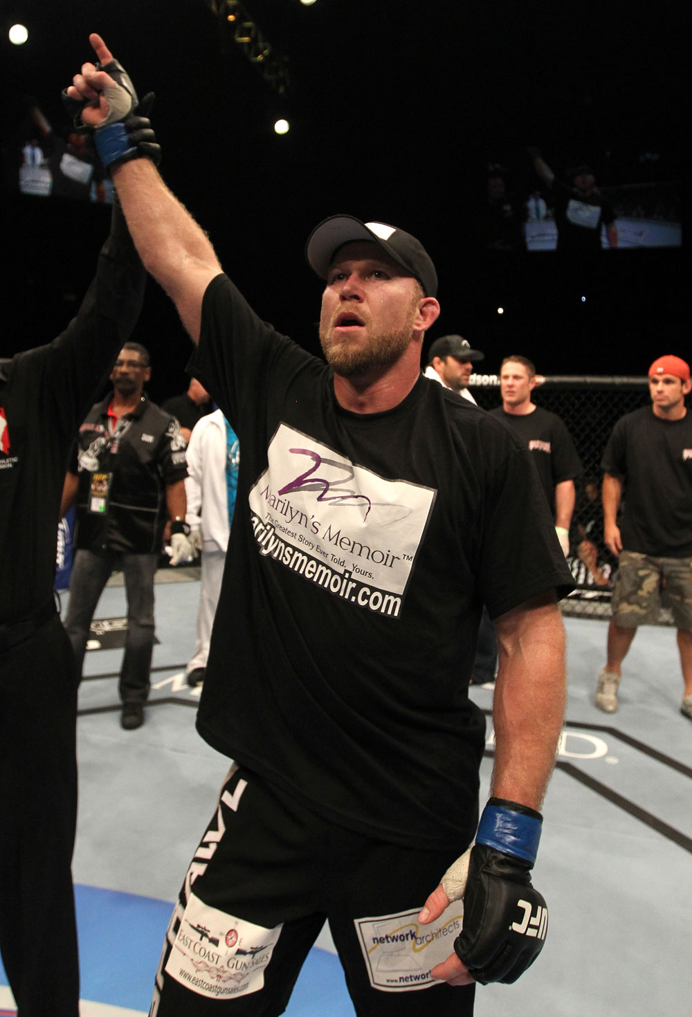UFC 130: Tim Boetsch celebrates his win over Kendall Grove.