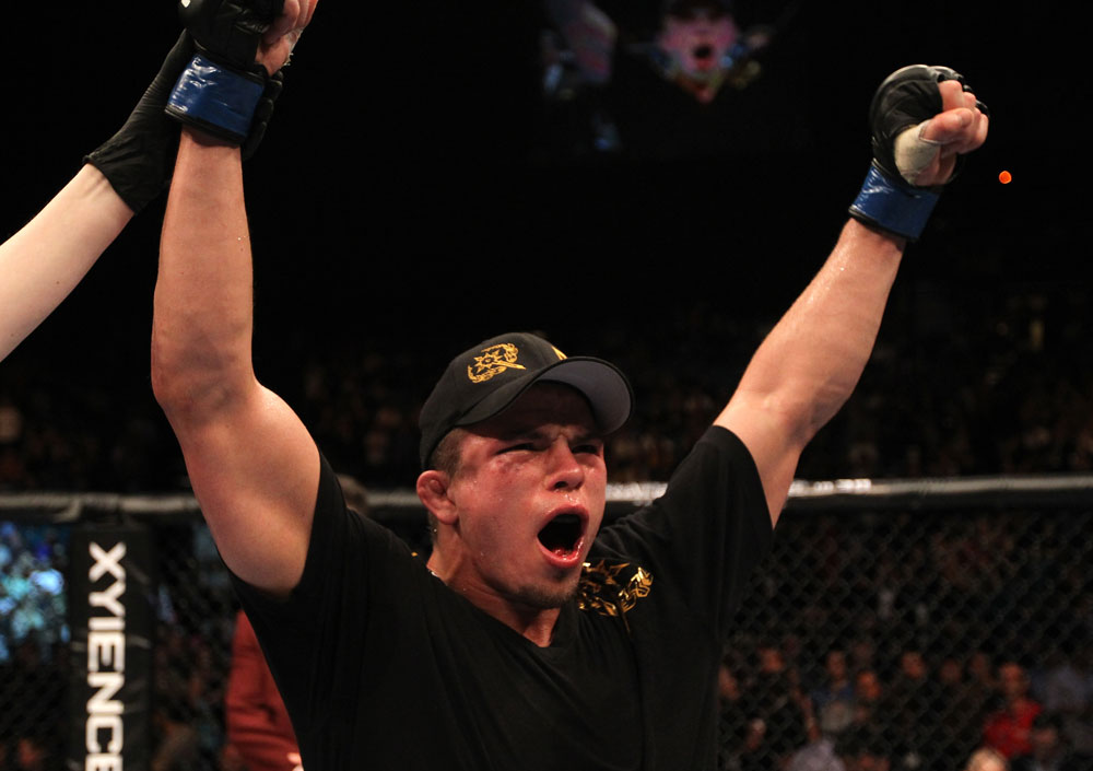 UFC 130: Rick Story celebrates his victory