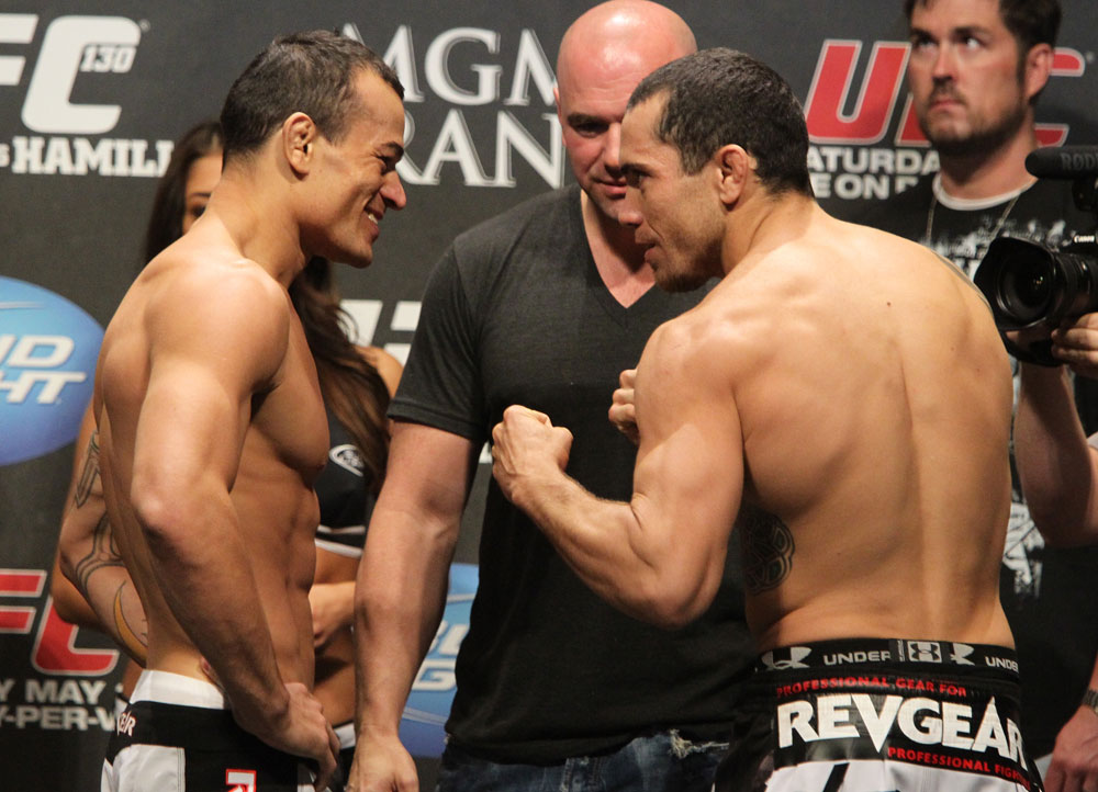 UFC 130 Weigh-ins: Gleison Tibau vs. Rafaello Oliveira