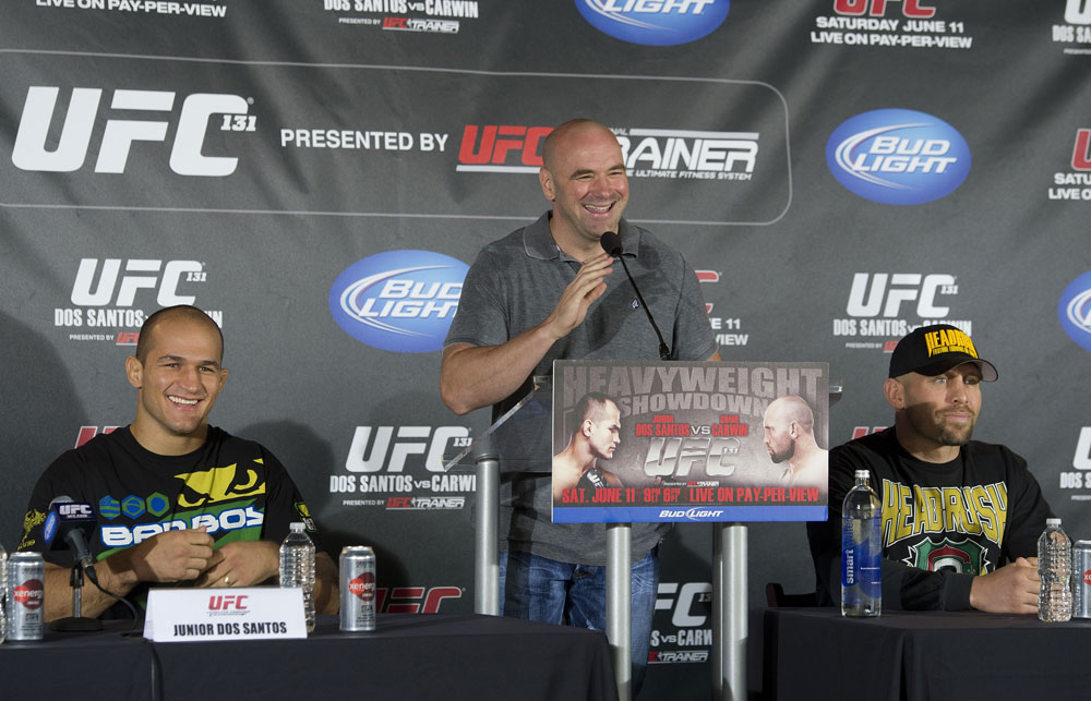 Dana White, Junior dos Santos &amp; Shane Carwin
