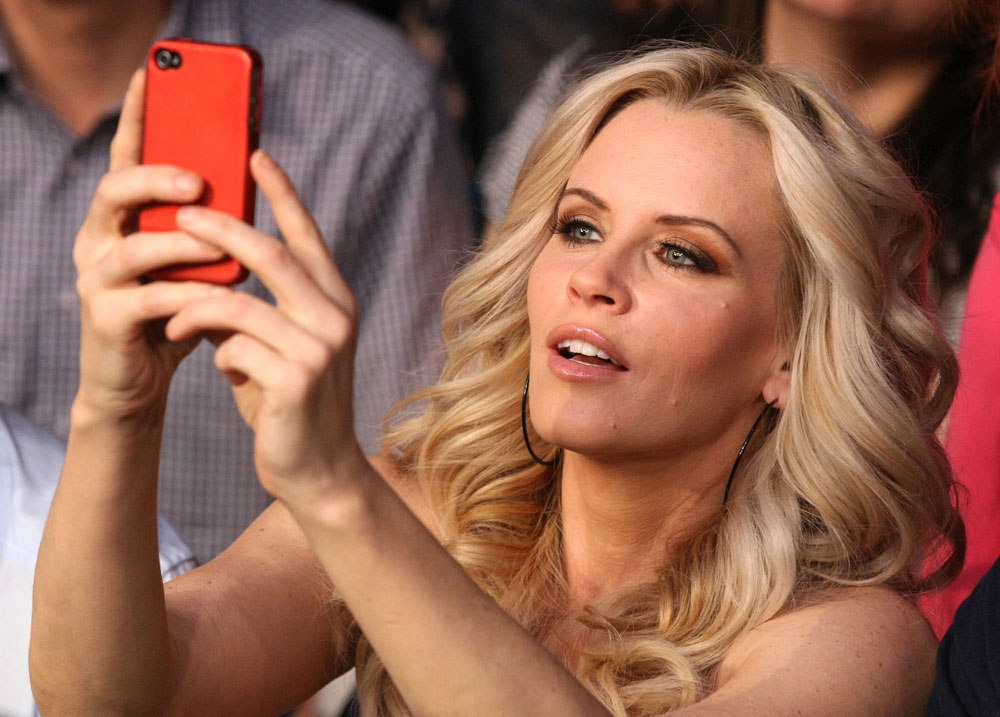 Actress and model Jenny McCarthy in attendance at UFC 132.