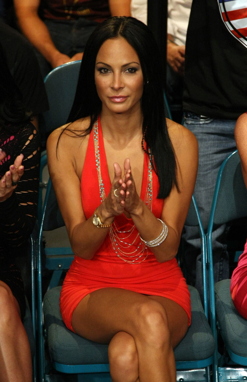 TV Personality and model Kenda Perez in attendance of UFC 132.