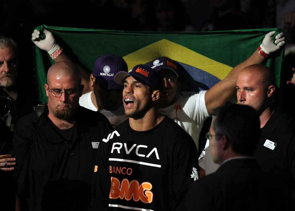 UFC 133: Vitor Belfort enters the octagon.